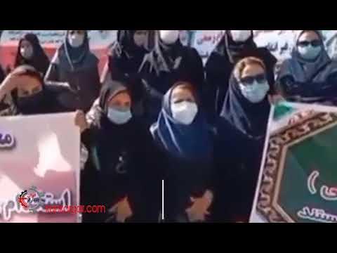 تجمع معلمان غیر انتفاعی روبروی مجلس در اعتراض به خودداری آموزش و پرورش از استخدام آنها