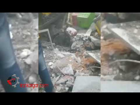 از بین رفتن یک کارخانه صنایع غذایی پاک تلیسه بر اثر انفجار همراه با مصدومیت ۱۷ کارگر + فیلم