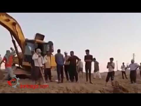 باز کردن سد انحرافی توسط کشاورزان مراونه در استان خوزستان جهت جلوگیری از دزدی حقابهشان