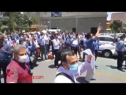 تجمع راهبران متروی تهران در اعتراض به عملی نشدن وعدههای داده شده