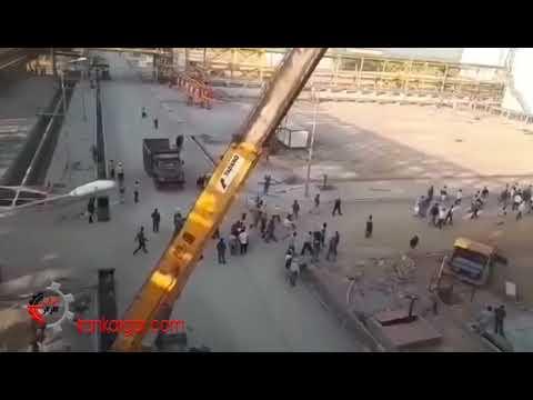 پیوستن کارگران پروژهای بیدبلند۲ ماهشهر به اعتصاب سراسری کارگران نفت و گاز «کمپین ۱۴۰۰» - کلیپ