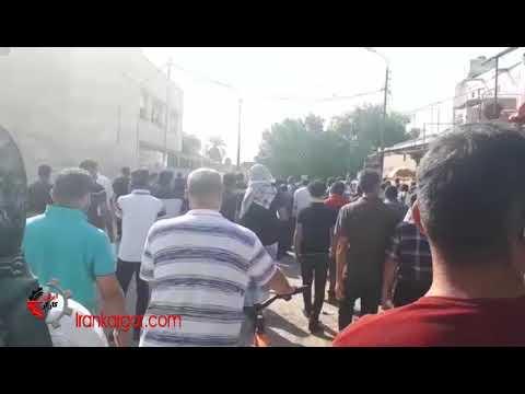 تجمع اعتراضی کارگران هفت تپه در دوازدهمین روز اعتصاب در محوطه بازار هفت تپه