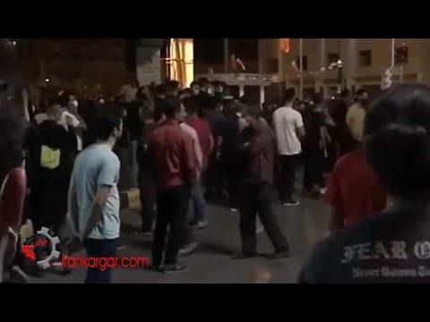 خوزستان، اصفهان، اتحاد؛ شعار مردم اصفهان بر بالای پشت بامها و خیابانها در همبستگی با مردم خوزستان