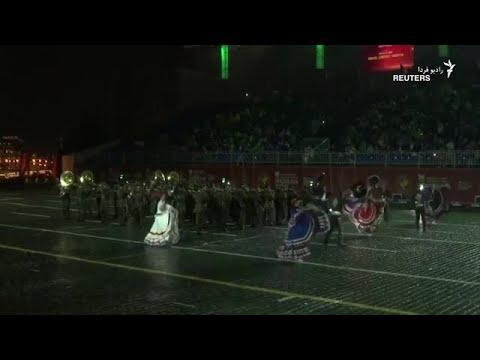 جشنواره موسیقی نظامی در میدان سرخ مسکو
