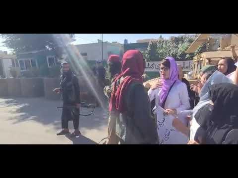 ادامه اعتراض زنان در کابل برای سومین روز متوالی