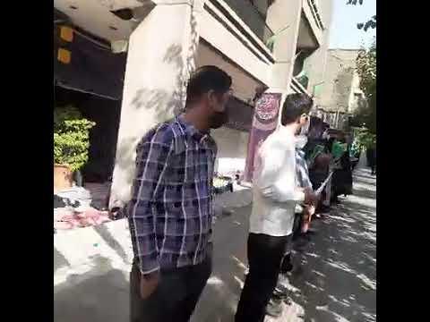 تجمع اعتراضی معلمان موسوم به کارنامه سبز در مقابل وزارت آموزش و پرورش