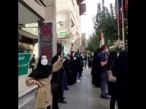 تجمع اعتراضی کارنامه سبزها مقابل وزارت آموزش و پرورش وارد هشتمین روز خود شد، ۲۰ شهریور