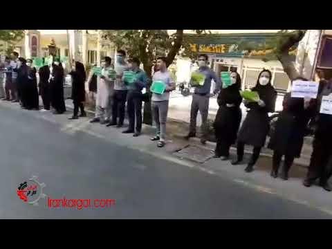 سیزدهمین روز تحصن و تجمع اعتراضی معلمان کارنامه سبز - فیلم