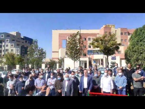 تجمع اعتراضی معلمان در شهرهای خرمآباد، اراک، زنجان، قم